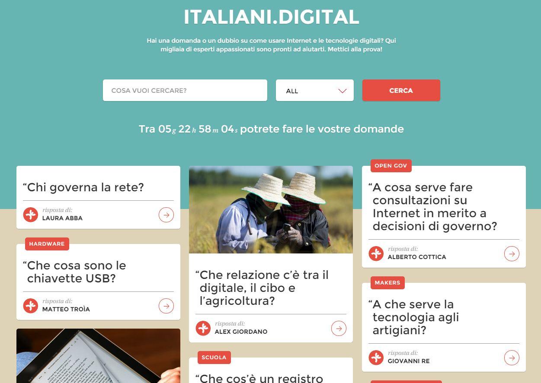 Italiani Digital: hai domande su un tema digitale?