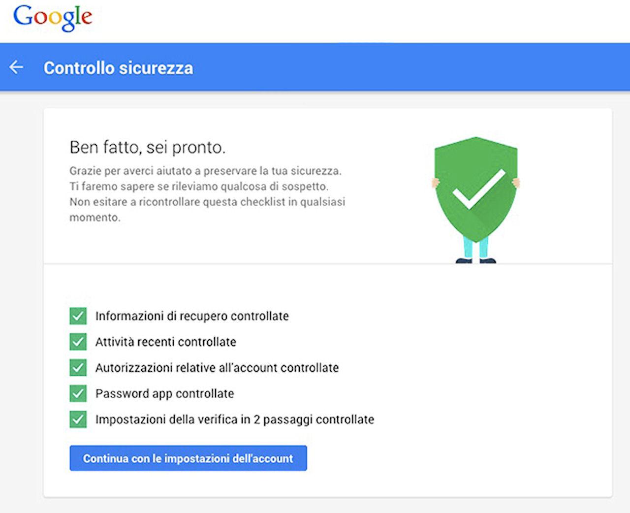 Impostazioni sicurezza Google: come avere 2 GB di spazio in più