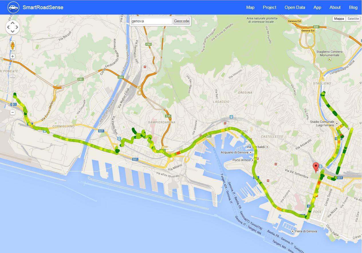 SmartRoadSense: una app sulla qualità delle strade