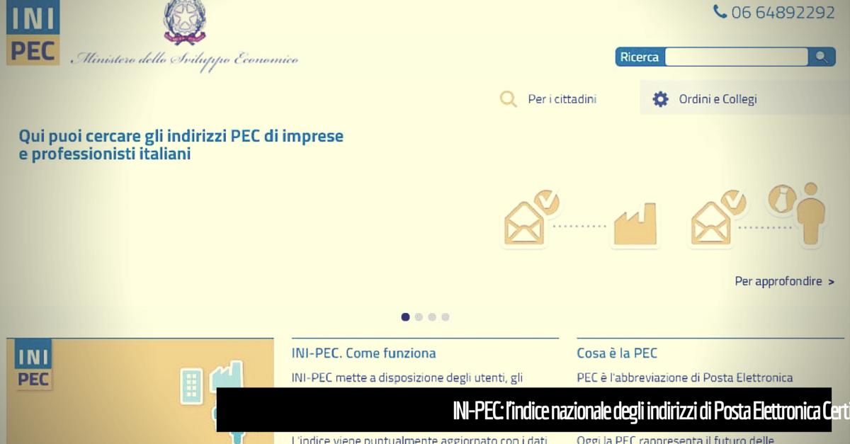 INI-PEC: l'indice nazionale degli indirizzi PEC