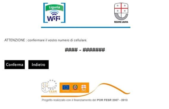 wi-fi gratis sestri-ponente conferma cellulare