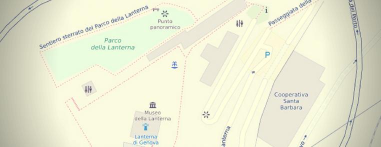 mappatura della lanterna di genova con josm