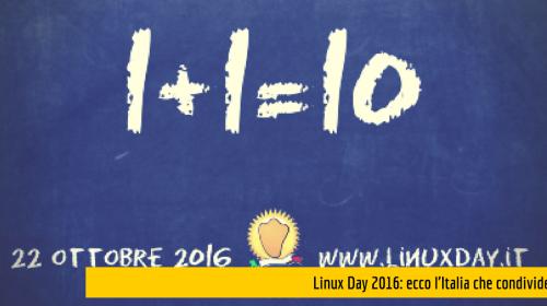 linux day 2016 ecco l'italia che condivide