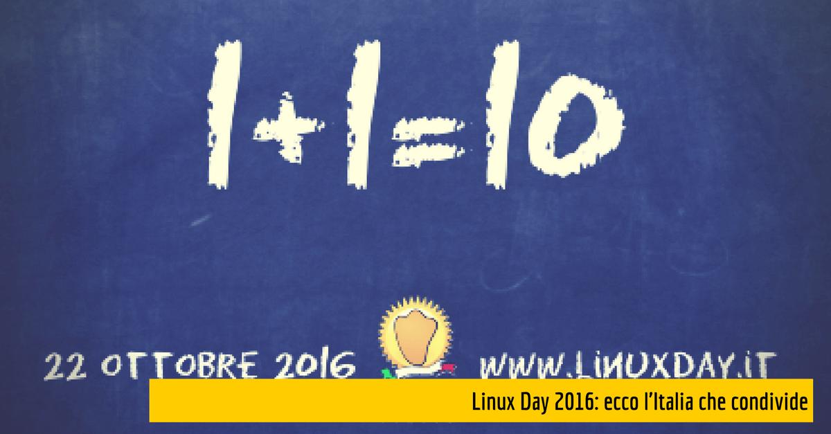 Linux Day 2016: ecco l'Italia che condivide