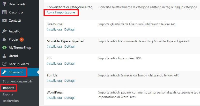 avvia-convertitore-categorie-tag-wordpress