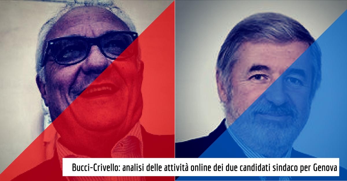 Bucci-Crivello: analisi delle attività online dei due candidati sindaco per Genova